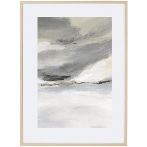 Grey Mist 3V - Framed Print