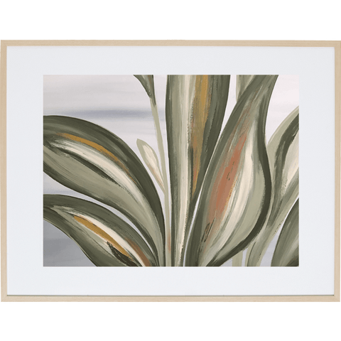 Lilly Leaves 1H - Framed Print