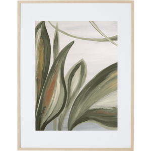 Lilly Leaves 1V - Framed Print