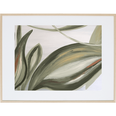 Lilly Leaves 2H - Framed Print