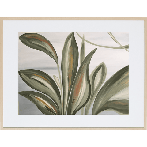 Lilly Leaves 3H - Framed Print
