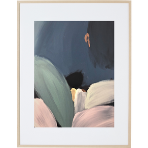 Plants At Night 3V - Framed Print
