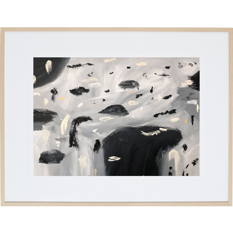 Rain Amongst The Clouds 2H - Framed Print