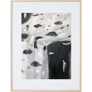 Rain Amongst The Clouds 2V - Framed Print