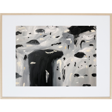 Rain Amongst The Clouds 3H - Framed Print