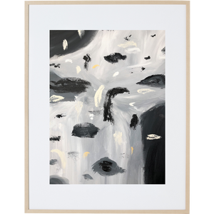 Rain Amongst The Clouds 5V - Framed Print