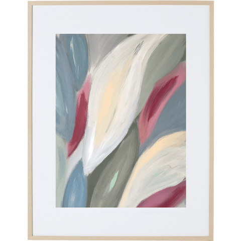 Spring Leaves 2V - Framed Print
