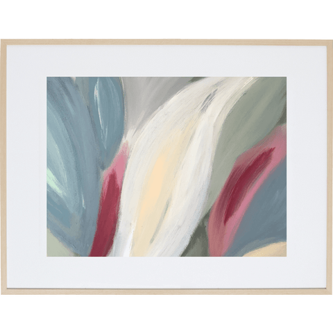 Spring Leaves 4H - Framed Print
