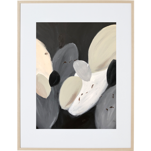 Stones Amongst The Leaves 1V - Framed Print