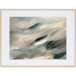 Travelling Through The Clouds 1H - Framed Print