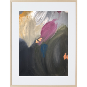 Tulips In the Rain 3V - Framed Print