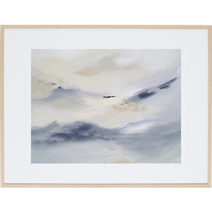 White Whisper 1H - Framed Print