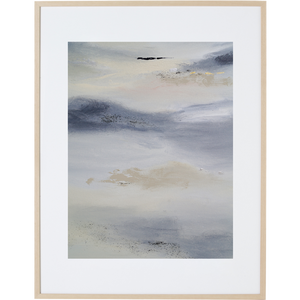 White Whisper 1V - Framed Print