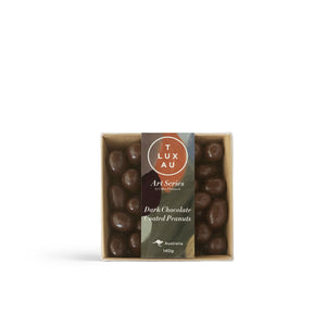 Dark Chocolate Peanuts Square Box - Art Series