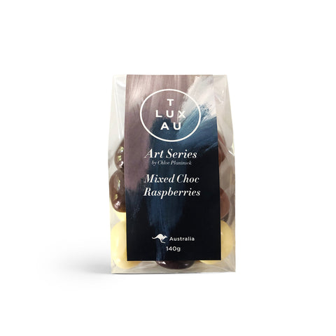 Mixed Chocolate Coated Raspberries 140g - Art Series
