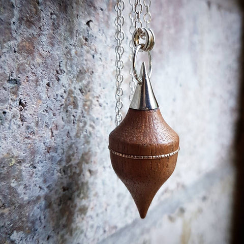 Mixed Element 'Pendulum' - Mahogany Pendant