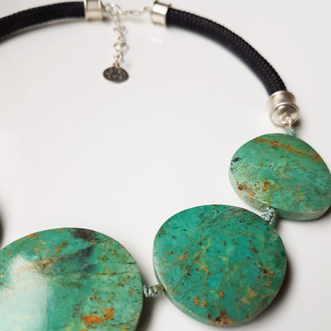 Loves Avenue Chrysocolla Statement Necklace