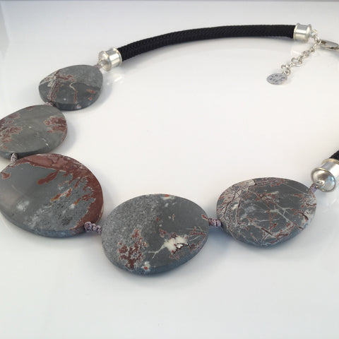 Loves Avenue Dendritic Rhyolite Statement Necklace