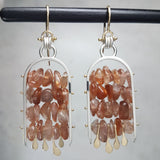 Large Celestial Ladder Earrings - Sunstone