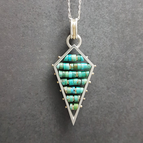 Arrow Ladder Pendant - Turquoise
