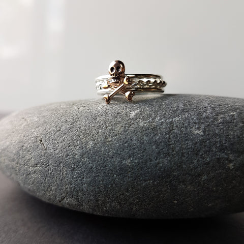 Cross Bones stacking rings