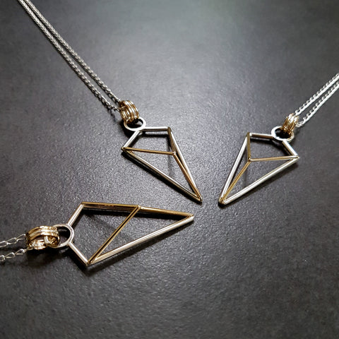 Geometric Arrow Pendant