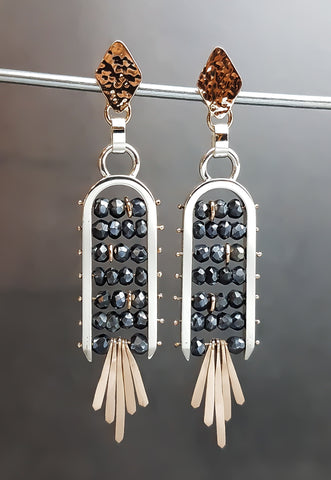 Celestial Ladder Earrings - Spinel