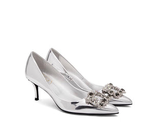 MANOLO Metallic High Heels