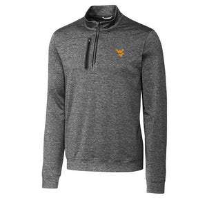 WVU GREY STEALTH HALF-ZIP