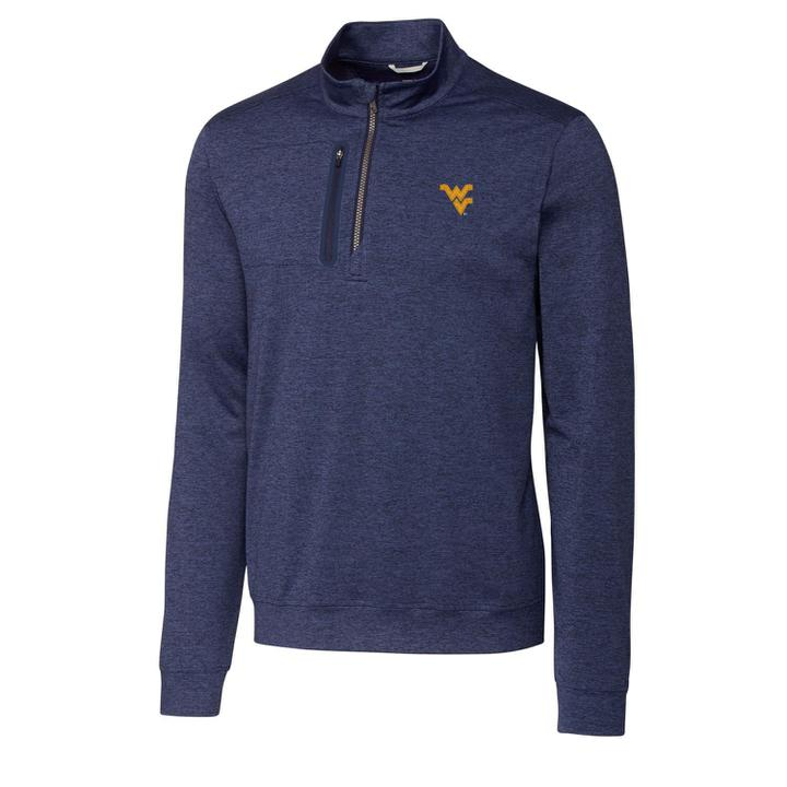 WVU NAVY STEALTH HALF-ZIP