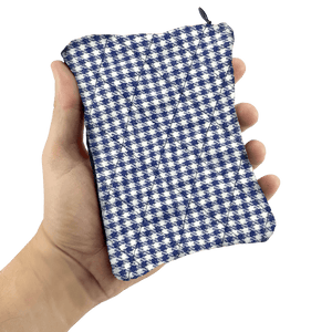 The Sack Sack Powder Applicator in Navy Checker in Hand