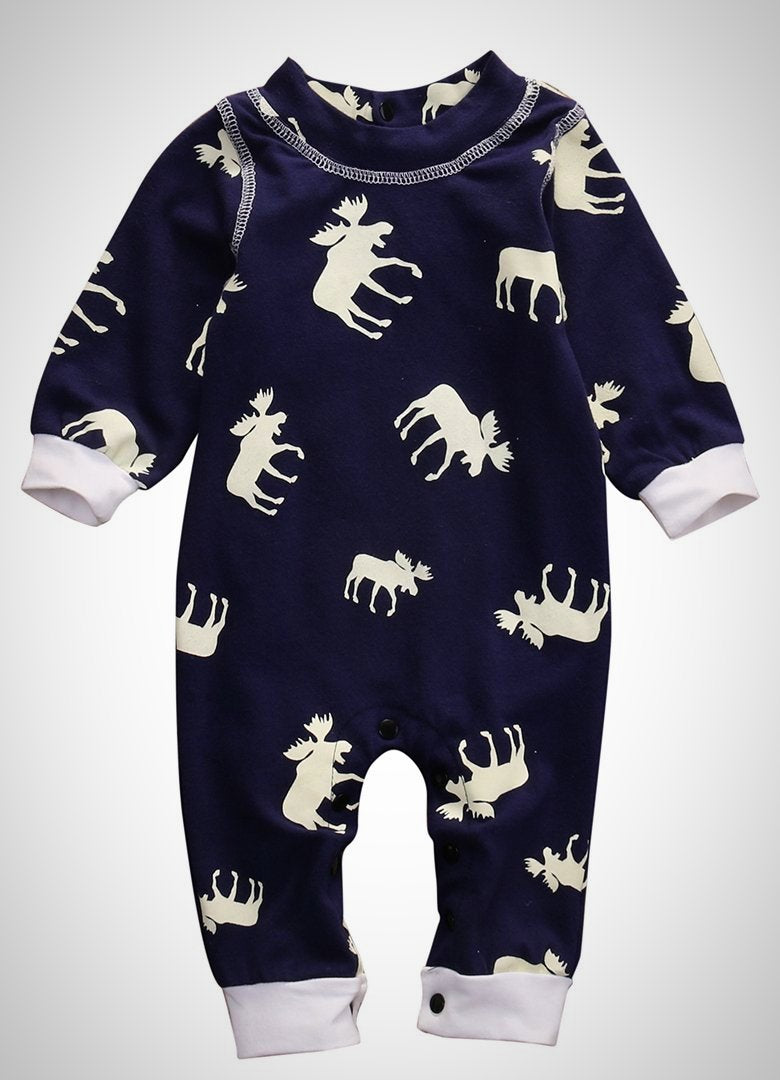 Newborn Infant Moose Deer Long Sleeve - Juniorshopstyle