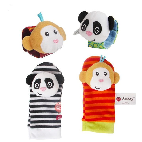 Baby Rattles Soft Plush Toys 4 piece - Juniorshopstyle