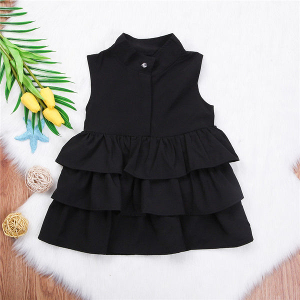 Summer Cute Black Green Ball Gown Girls Dresses Kid Girl Party Dress - Juniorshopstyle