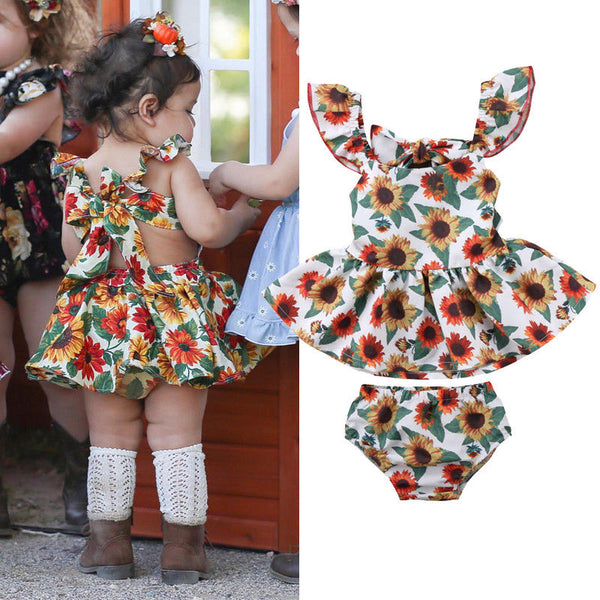 2PCS Sunsuit Dress - Juniorshopstyle