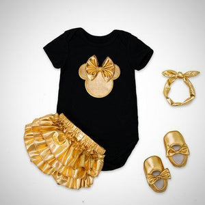 4pcs baby gold suit - Juniorshopstyle