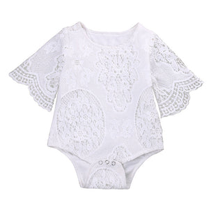 white hollow Baby suit - Juniorshopstyle