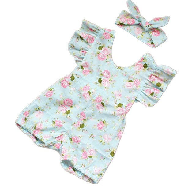 baby Summer Flower suit - Juniorshopstyle