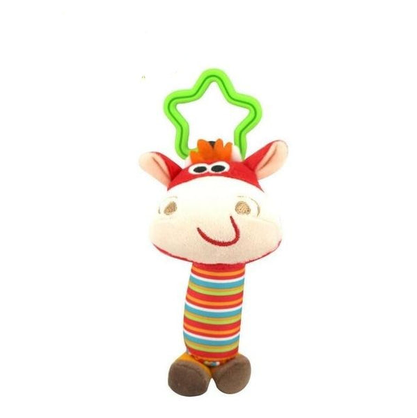 Baby Kids Rattle Toys Cartoon Animal Plush Hand Bell - Juniorshopstyle