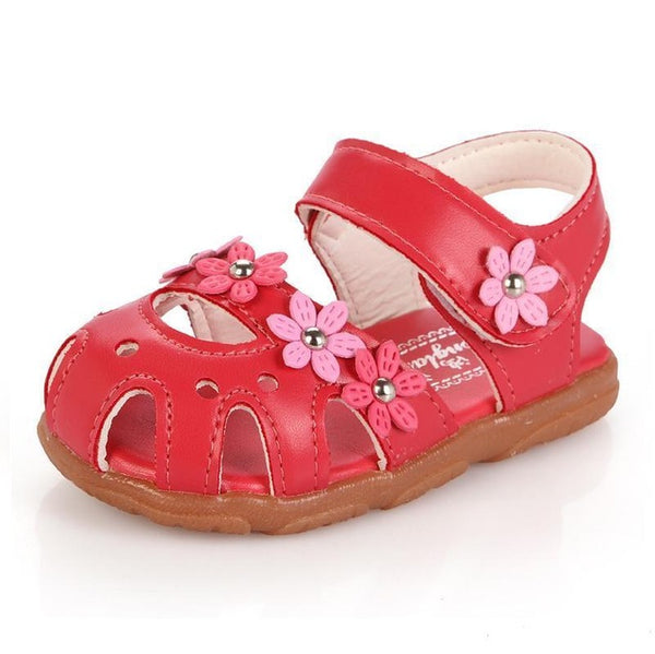 baby sandals summer flower shoes - Juniorshopstyle