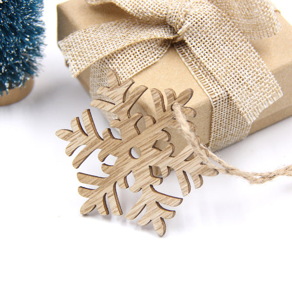 10PCS Wooden Christmas Decorations - Juniorshopstyle