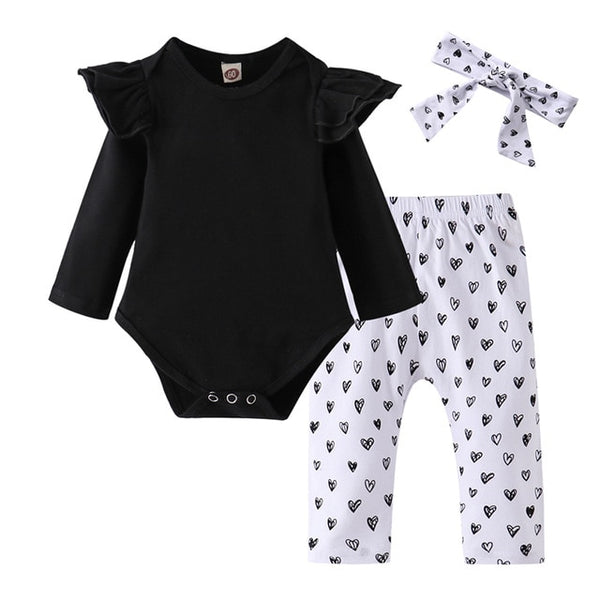 Baby Girl Clothes 3Pcs Set Cotton - Juniorshopstyle