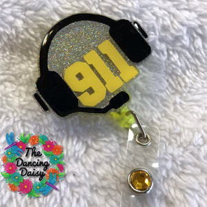 911 headset Badge Reel