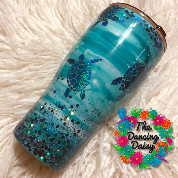 30 oz Sea Turtle tumbler