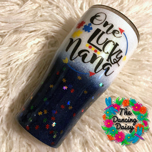 30 oz One Lucky Nana Autism tumbler