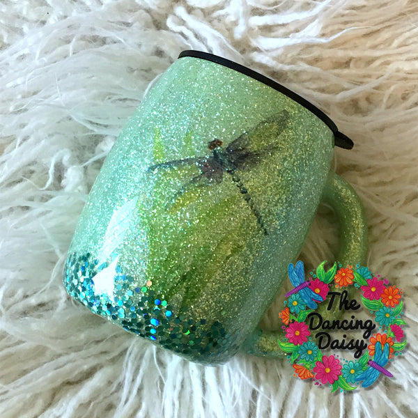 14 oz Dragonfly handled mug - double sided