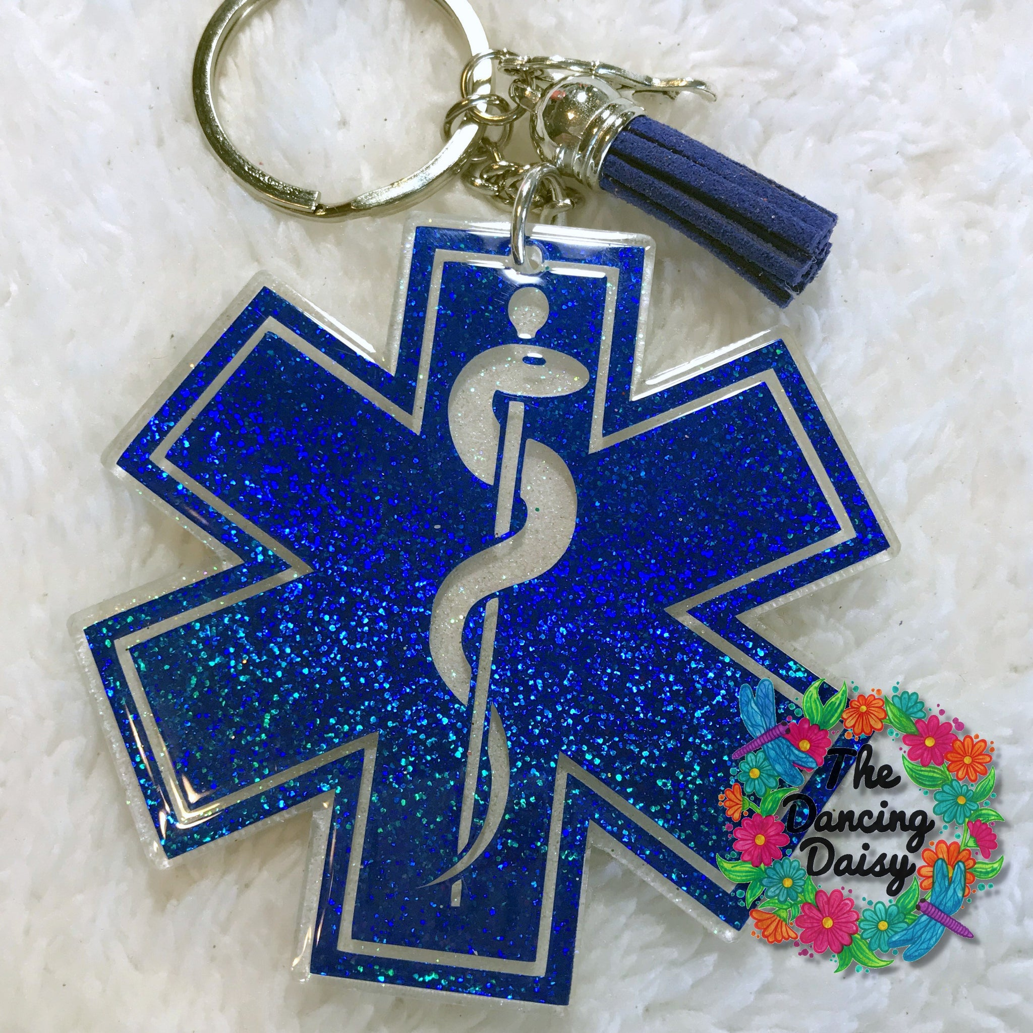Star of Life EMT Medical professional acrylic keychain