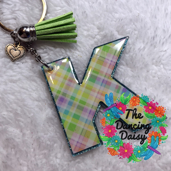 Initial / Monogram acrylic keychain - 2.5 inches
