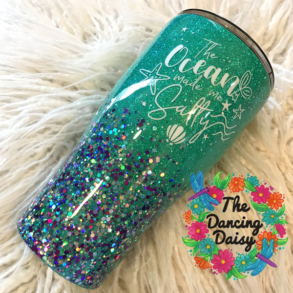 "30 oz ""The Ocean made me Salty"" tumbler"