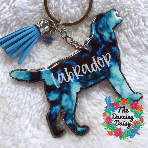 Labrador  / Lab dog keychain - VERSION 2